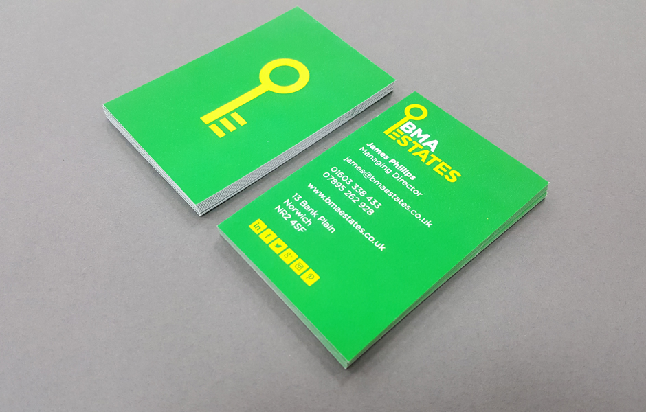 Business card printing in Norwich.