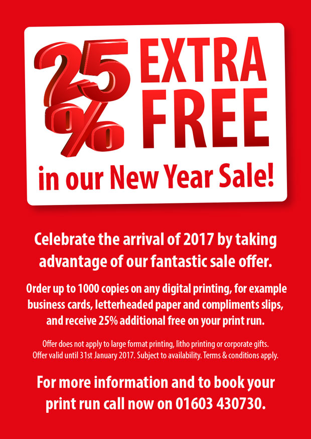 Current special offer at Norwich Print Solutions.