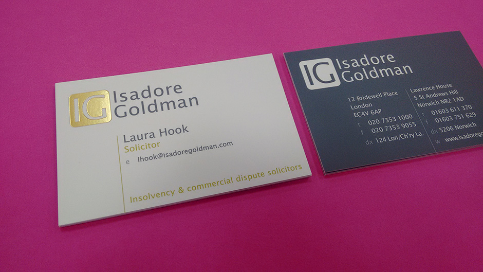 Business Card Printing from Norwich Print Solutions