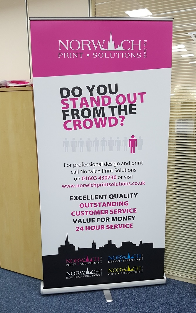 Roller banner printing Norwich.