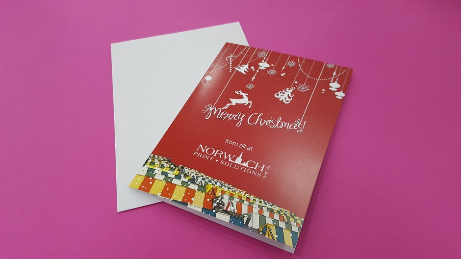 Christmas card printing in Norwich.