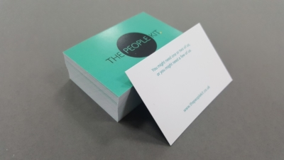 The People Kit Business card print in Norwich.