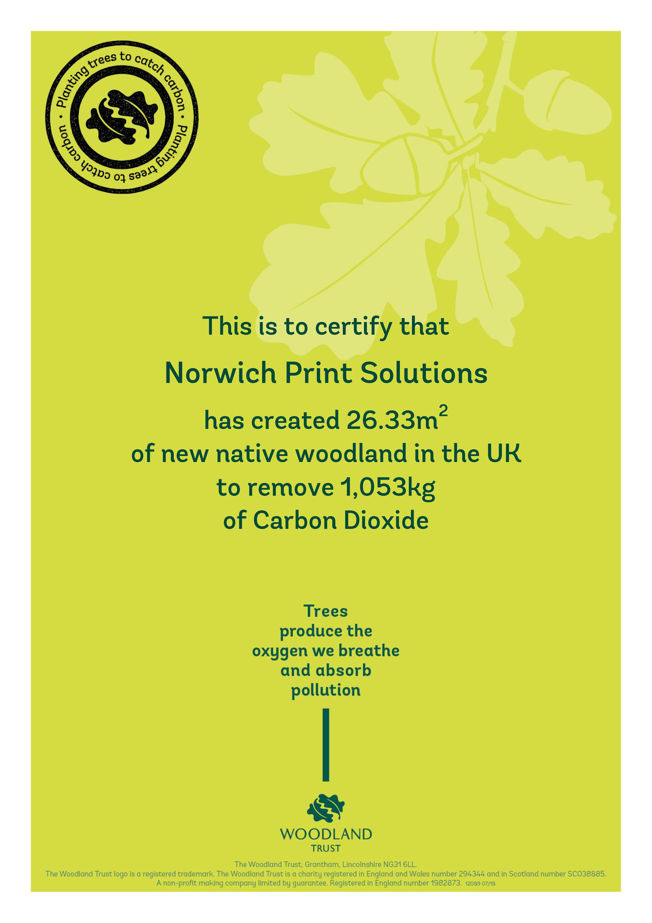 Local printers works with Woodland Trust